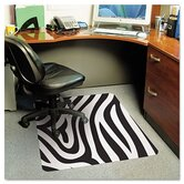 Zebra Medium Pile Carpet Chair Mat