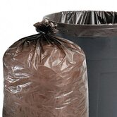Total Recycled Plastic Trash Garbage Bags, 60 Gal, 1.5Mil, 36X58, 100/Carton