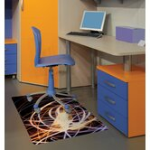 Colortex Polycarbonate Light Swirl Rectangular General Purpose Mat for Hard Floors & Low Pile Carpets