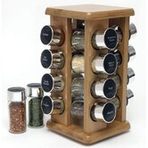 Bamboo 16 Bottle Spice Rack