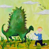 Wit & Whimsy Dino Canvas Print
