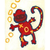Paper Prints X & O Monkey Canvas Print