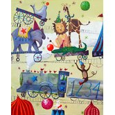 Wit and Whimsy Circus Train Canvas Print