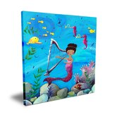 Wit & Whimsy African American Mermaid Canvas Art