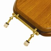 Decorative Elongated Toilet Seat with Polished Brass Hinges