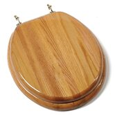 Designer Solid Round Toilet Seat in Oak