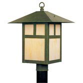 Montclair Mission  Outdoor Post Lantern in Verde Patina