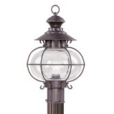 Harbor  Outdoor Post Lantern in Bronze