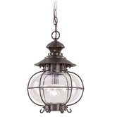 Harbor  Outdoor Hanging Lantern in Bronze
