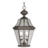 Georgetown Outdoor Hanging Lantern in Bronze