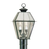Westover Outdoor Post Lantern in Black
