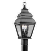 Exeter  Outdoor Post Lantern in Black