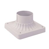 Outdoor Basics Pier Mount in White