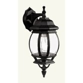 Frontenac  Outdoor Wall Lantern in Black