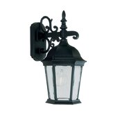 Hamilton Outdoor Down Light Wall Lantern in Black