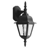 Kent One Down Light Outdoor Wall Lantern in Black
