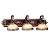 Seville  Vanity Light in Palacial Bronze with Gilded Accents