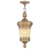 La Bella Outdoor Hanging Lantern in Vintage Gold Leaf