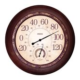 "Metal Garden Thermometer with 13"" Hygrometer"