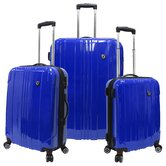 Sedona 100% Pure Polycarbonate 3 Piece Expandable Spinner Luggage Set