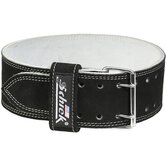 Competition Power Belt with Suede Leather in Black