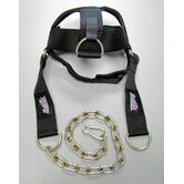 Schiek Adjustable Head Harness in Black
