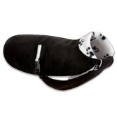 Original Dog Coat in Black with Pawprint Fleece and Black Belt