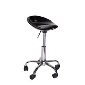 Height Adjustable Contour Stool with Casters