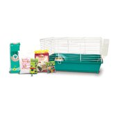 Home Sweet Home Rabbit Cage Starter Kit with LM Farms Food