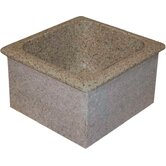 "Farm Charm 15"" x 16"" Single Bowl Granite Prep Sink"