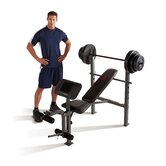 Bench with 100 lb Weight Set