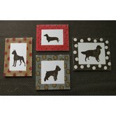 Houndstooth Wall Art (Set of 4)