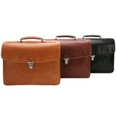 "The Green Collection Bella Russo 17"" Laptop Triple Compartment Briefcase"