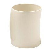 Jameson White Ceramic Waste Basket