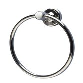 Waterford Towel Ring in Polished Nickel