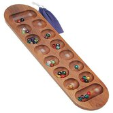 Mancala Game in Walnut
