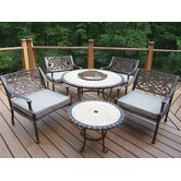 Tacoma Stone Art 6 Piece Bistro Set