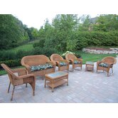 Resin Wicker 7 Piece Seating Group