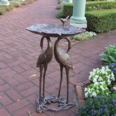 2 Crane Lily Bird Bath