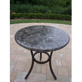 Espresso Stone Top Bistro Table