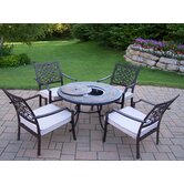 Roma 5 Piece Bistro Set with Cushions and Cooler