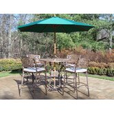 Elite 5 Piece Bar Set with Cushions and Umbrella