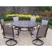 Mississippi 7 Piece Swivel Dining Set
