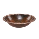 Oval Undermount Hammered Copper Bathroom Sink in Oil Rubbed Bronze