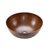 Small Round Hammered Copper Vessel Sink in Oil Rubbed Bronze