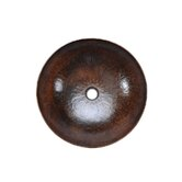 Large Round Hammered Copper Vessel Sink in Oil Rubbed Bronze