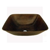 Square Hammered Copper Vessel Sink in Oil Rubbed Bronze