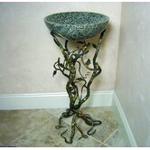 "Firestine 32"" x 15"" Hand Made Pedestal Sink Set"