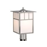 "Mission 9"" Outdoor Post Lantern in Stainless Steel"