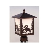 Yellowstone Outdoor Post Lantern in Burnished Bronze